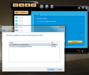 Zrzut ekranu zaktualizacji oprogramowania zestawu Cyfrowego Polsatu