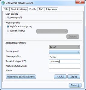 Aplikacja Dell - wypełniona konfiguracja profilu Aero2