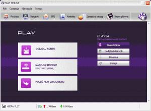 Aplikacja PLAY ONLINE ponawiązaniu połączenia zAero2