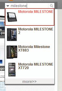 Wyszukiwanie telefonu - lista pasujących urządzeń