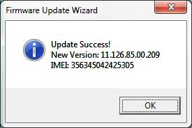 Program aktualizujący flash modemu E173 - Potwierdzenie zakończenia