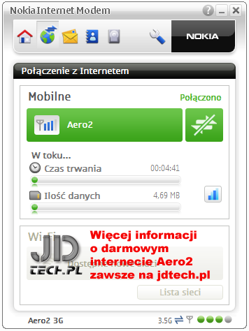 Aplikacja sterująca modemami Nokia