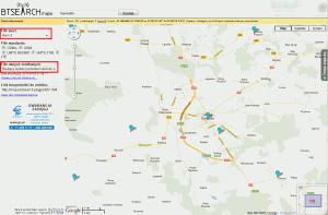 Mapa pozwoleń radiowych dla tejsamej okolicy - BTSEARCH.mapa