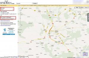 Mapa nadajników, które zostały zweryfikowane