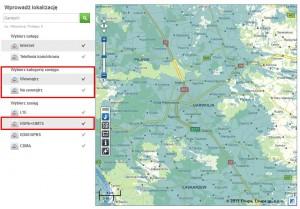Mapa zasięgu sieci Plus - okolice Garwolina - jest zasięg 3G