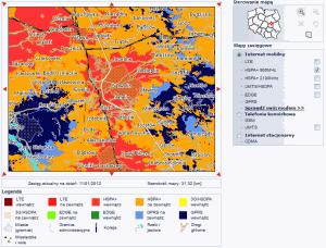 Interaktywna mapa zasięgu Plus - UMTS 900 MHz