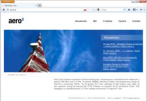 Strona aero2.pl - powpisaniu adresu skróconego (wtrakcie zawieszenia)
