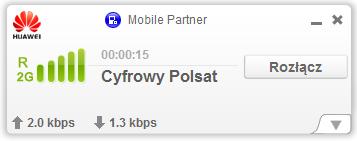 Karta Cyfrowego Polsatu zalogowana dosieci 2G Plusa