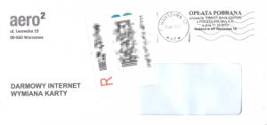 Koperta zwymienioną kartą SIM