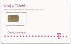 Wyłamywana karta microSIM wwersji Tmobile