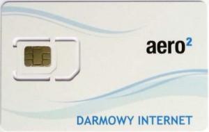 Przód karty SIM Aero2 - trzeci wzór