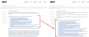 Zmiany nastronie Aero2 - kwiecień 2013