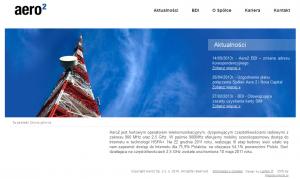 Wygląd strony aero2.pl zlistopada 2013