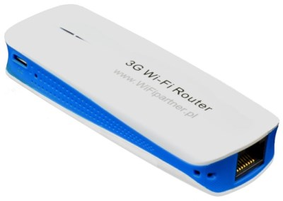 WPR 1800 - widok góry, boku, ucchwytu dosmyczy igniazda Ethernet
