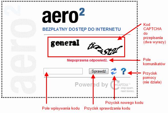 Instrukcja obsługi interfejsu wpisywania kodów CAPTCHA