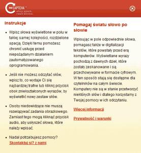Polska pomoc reCAPTCHA