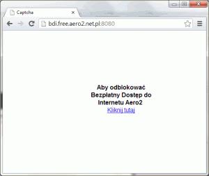 CAPTCHA wAero2 - przywitanie