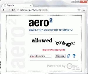 reCAPCTCHA - wpisanie poprawnego kodu nam się nie udało