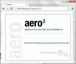 Mamy odblokowane połączenie Aero2