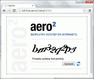 Właściwy kod CAPTCHA - musimy wpisać tekst zobrazka.