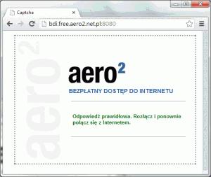 Mamy odblokowane połączenie Aero2 - możemy korzystać, alejeszcze musimy coś zrobić...