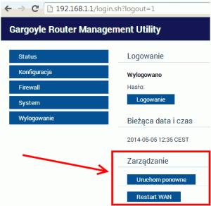 Wtyczka resetująca połączenie dla OpenWRT + Gargoyle