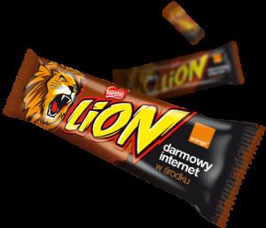 Baton Lion zkodem promocyjnym Orange
