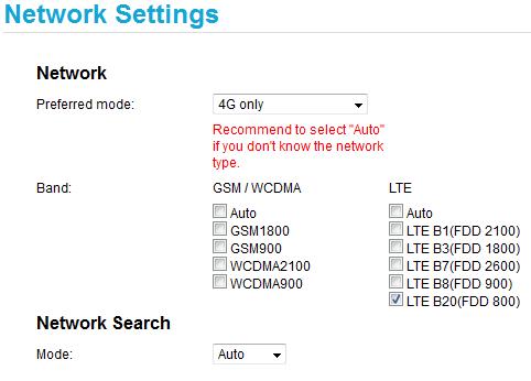 Wymuszanie pasma wE3372 - specjalna wersja oprogramowania