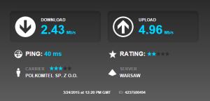 Wynik testu LTE 800 MHz