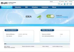 Interfejs zarządzania przez przeglądarkę internetową dla routera ML0655