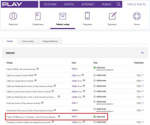 Play24 - Aktywny cykliczny pakiet 250 MB
