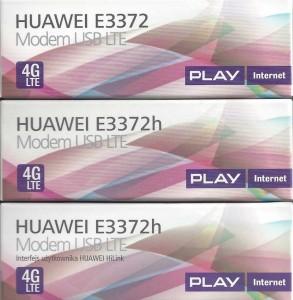 3 wersje opakowania E3372